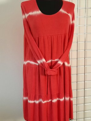 Made in Italy Sukienka o kroju koszulki biały-czerwony