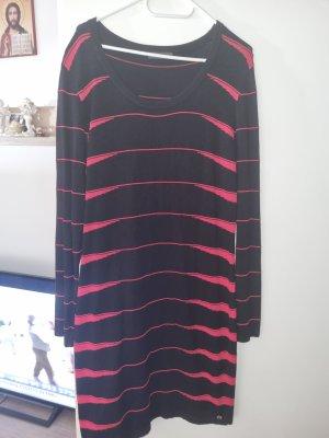 Airfield Gebreide jurk zwart-rood
