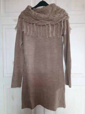 Colours of the World Robe en maille tricotées gris brun