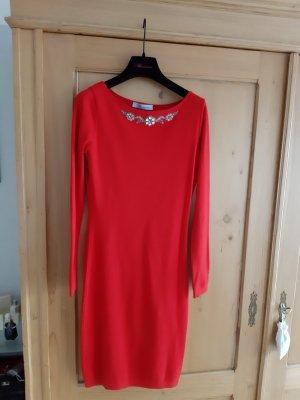 Blumarine Knitted Dress brick red viscose