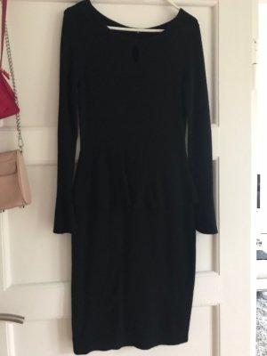 Comma Robe en maille tricotées noir