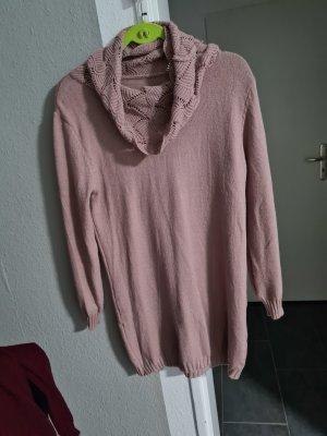 Abito maglione rosa antico