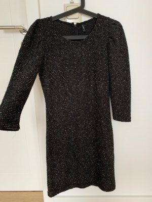 B.young Robe en maille tricotées taupe-noir