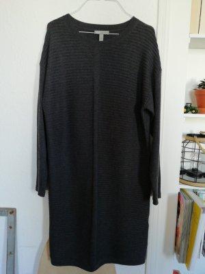 asos curve Robe en maille tricotées gris foncé-gris anthracite
