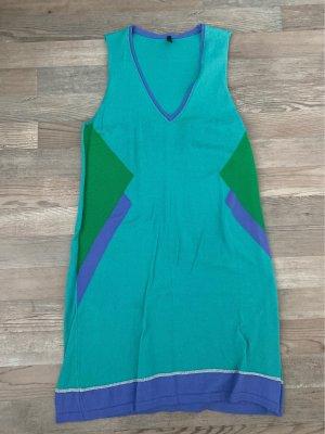 Benetton Robe en maille tricotées multicolore