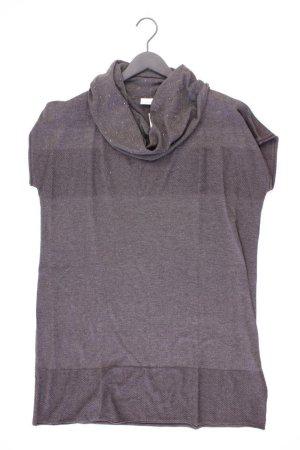 Strickkleid Größe 44/46 Kurzarm grau aus Polyester
