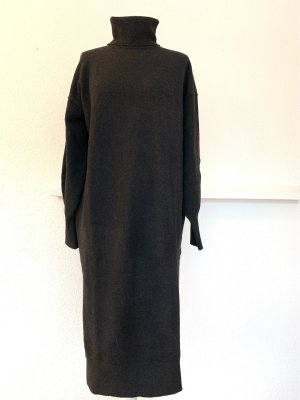 H&M Knitted Dress black-anthracite mixture fibre