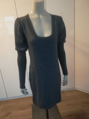 Mango Suit Vestido tejido gris antracita