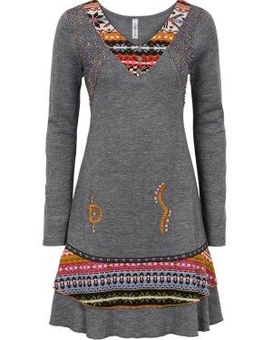 Bon Prix A-lijn jurk veelkleurig