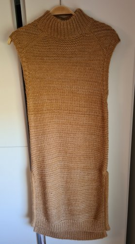 Cortefiel Knitted Dress camel