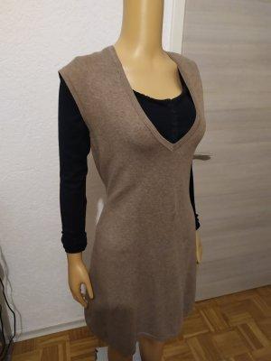 Strickkleid Kleid Herbstkleid neuwertig ärmellos Cappuccinofarbe M Blaumax