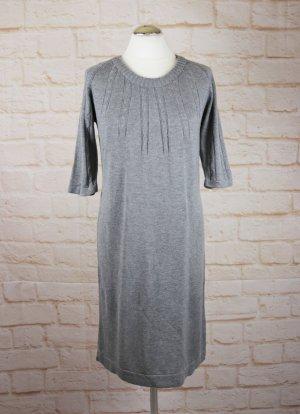 Strickkleid Kleid Woman Größe M 40/42 Grau Midikleid Zopfmuster Basic Winterkleid