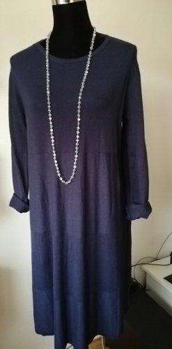 Made in Italy Gebreide jurk donkerblauw