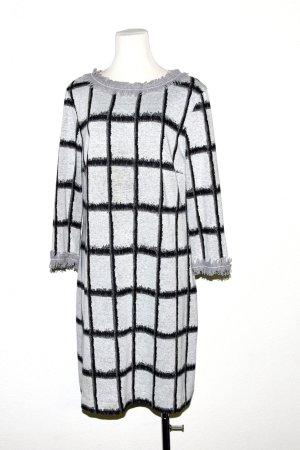 Ana Alcazar Robe en maille tricotées gris clair-noir tissu mixte