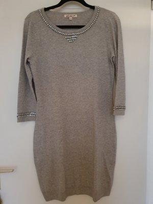 Belle Vere Robe en maille tricotées gris clair-gris