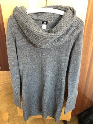 H&M Sweaterjurk grijs