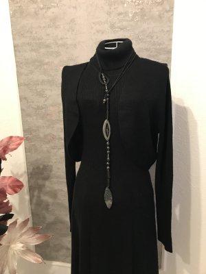 Alba Moda Gebreide jurk zwart Gemengd weefsel