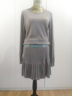 b.p.c. Bonprix Collection Knitted Dress grey viscose