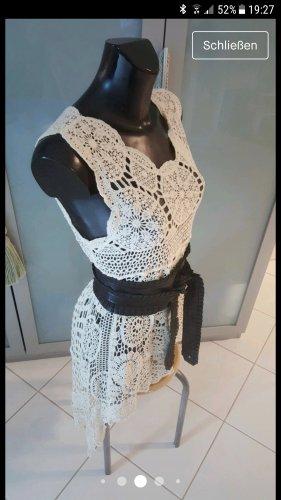 Zara Crochet Cardigan natural white