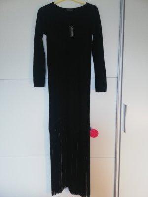 Impressionen Knitted Dress black mixture fibre