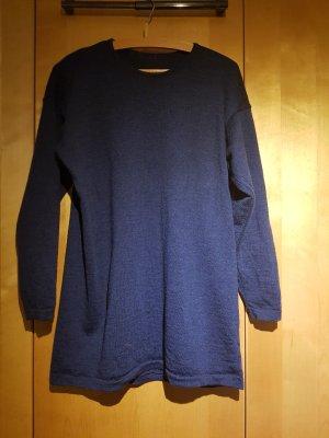 Robe en laine bleu foncé
