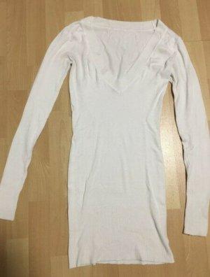 Robe pull blanc tissu mixte