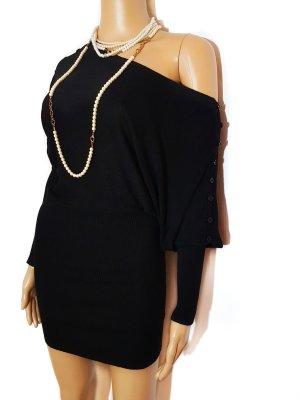 100% Fashion Robe en maille tricotées noir