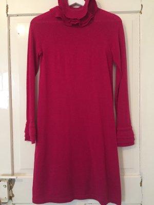 1971 Reiss Robe en maille tricotées rose laine mérinos