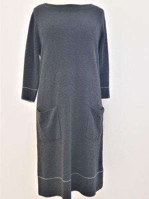 s.Oliver Robe en maille tricotées gris-gris foncé