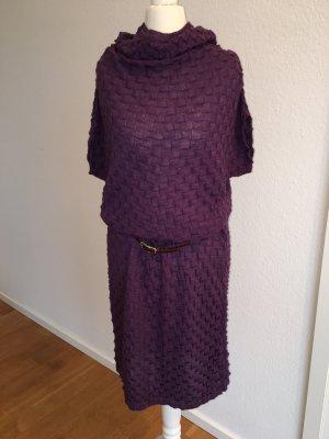 Strickkleid Schlauchkleid Custo Barcelona Violett Gr  36/38