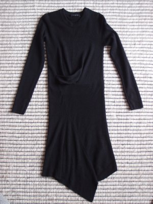 All Saints Gebreide jurk zwart Wol