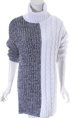 Strickkleid schwarz-weiß Casual-Look