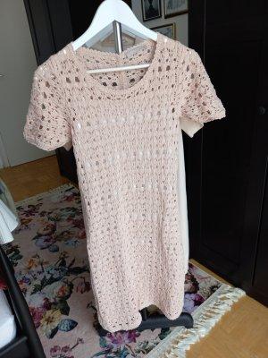 Stefanel Knitted Dress white-dusky pink
