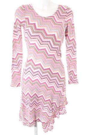 Gebreide jurk veelkleurig Gemengd weefsel