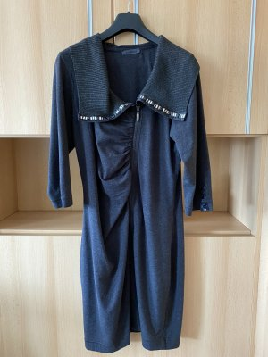 Air Field Robe en maille tricotées gris foncé