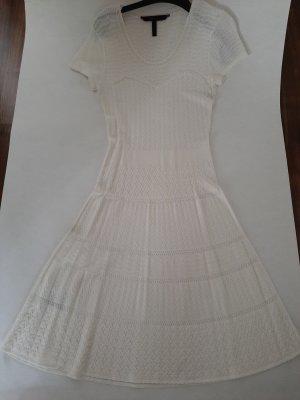 BCBG Maxazria Gebreide jurk wolwit Viscose