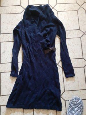 Christian Berg Woolen Dress blue-dark blue wool