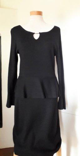 Comma Gebreide jurk zwart