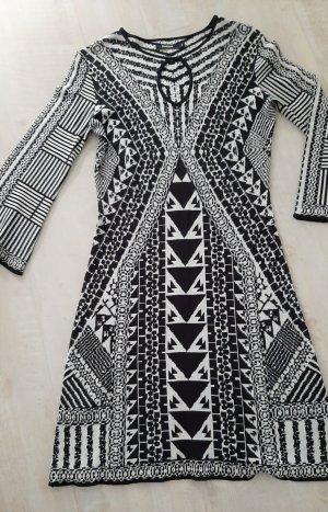 Desigual Knitted Dress white-black