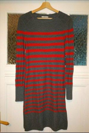 edc Gebreide jurk grijs-baksteenrood