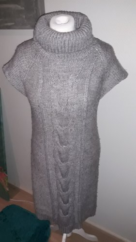 Promod Knitted Dress grey brown