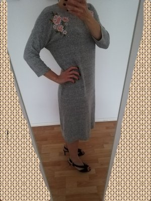 Promod Woolen Dress silver-colored