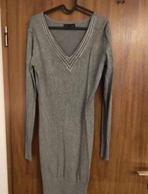 Melrose Knitted Dress light grey-grey