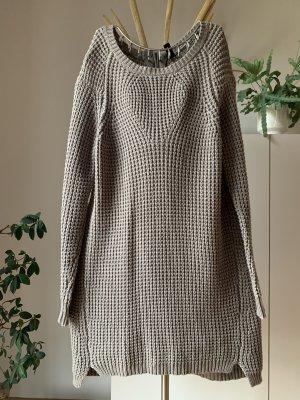 YAS Gebreide jurk grijs-bruin