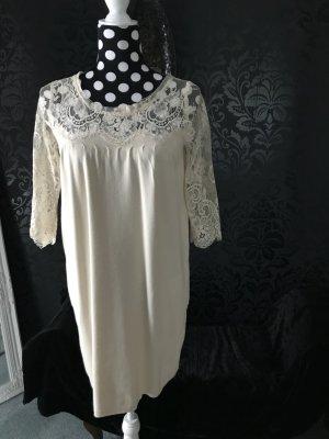 Twin set Mini Dress cream viscose