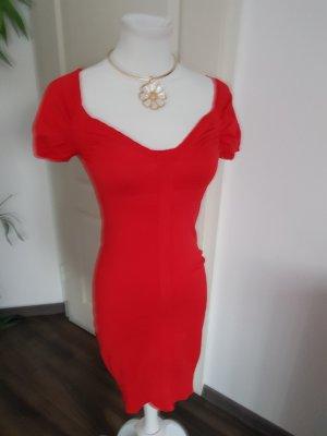 Morgan Robe en maille tricotées rouge
