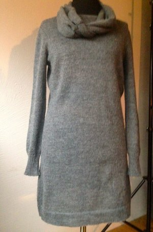 Claudia Gil Woolen Dress dark grey mixture fibre