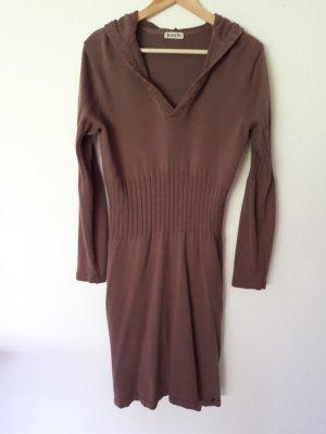 Boysen's Gebreide jurk lichtbruin Katoen