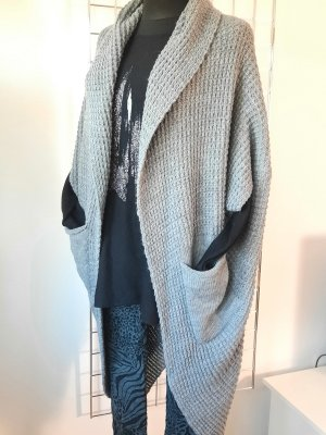 Made in Italy Manteau en tricot gris