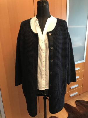 Knitted Coat dark blue wool (merino wool)